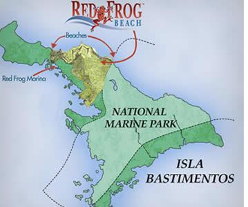 Die Zipline Canopy Tour in Bastimentos findet in der Nähe Red Frog Beach, einem der schönsten Strände von Bocas del Toro