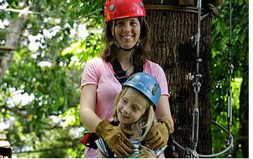 Kinder ab 4 Jahren können die Zipline Canopy Tour in Bocas del Toro beitreten