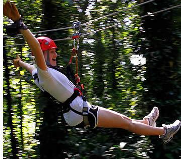 Der Regenwald Zipline Canopy Tour in Bocas del Toro ist spannender, dass viele andere ziplines in Zentralamerika